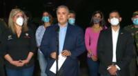 """""""A partir de esta noche empieza el máximo despliegue de asistencia militar a la Policía Nacional en la ciudad de Cali y en el departamento del Valle"""", dijo Iván Duque."""