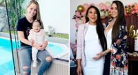 Melissa Klug celebra la visita de la hija Samahara Lobatón a su casa.