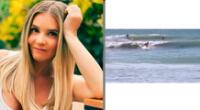 La actriz Johanna San Miguel afirma que goza de las olas del mar de la playa Los Órganos.