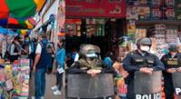 La PNP en plena intervención en La Parada