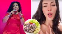 """Sheyla Rojas sorprende tratando de cantar como Eva Ayllón: """"Me provocó un ceviche y sus ricas chelas"""""""