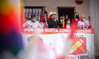 Pedro Castillo continúa su campaña en las regiones del país.