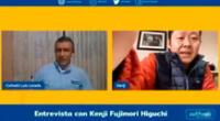 Kenji Fujimori se retiró de la entrevista de forma repentina.