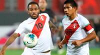 Jefferson Farfán y Edison Flores no pudieron llegar al partido ante Colombia por lesión.