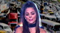 """Luciana Fuster molesta con la forma de conducir en Lima: """"Todos metidos como sea"""" [VIDEO]"""