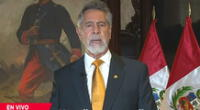 Presidente Francisco Sagasti ofreció mensaje a la Nación a pocos días de las elecciones.
