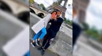 Miguel Trauco y Mariela Arévalo compartieron momentos bajo la Torre Eiffel.