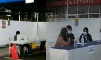 Ausencia de miembros de mesa los locales del Estadio Nacional y Jesús María