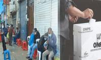 Ciudadanos realizan largas colas en exteriores de Reniec en SJM