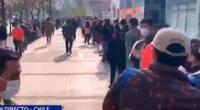 Peruanos hicieron una larga cola para emitir su voto en Chile