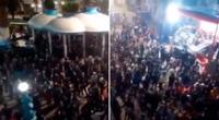 Los ciudadano se reunieron en una plaza de Chota, Cajamarca, para celebrar.