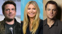 Gwyneth Paltrow junto a Matt Damon y Ben Affleck.