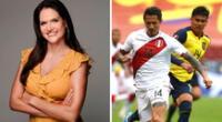 Lorena Álvarez festejó en Twitter la victoria de Perú.