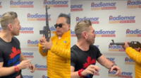 JB estuvo de invitado en el programa radial de Tomate Barraza, y aprovechó para bromearle sobre su fidelidad en un curioso video.