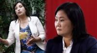 La candidata a la vicepresidencia por Perú Libre, Dina Boluarte, rechazó los cuestionamientos de Keiko Fujimori.