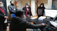 Un equipo contralor de la Odecma de la Corte de Huancavelica acudió al despacho del juez Alain Salas Cornejo