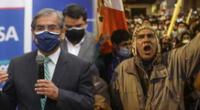 Ministro Óscar Ugarte se refirió a las marchas que se desarrollarán este fin de semana.