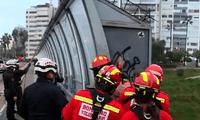 La central de emergencias de los bomberos recibió esta alerta a las 6.27 a. m.