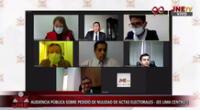 Audiencia pública sobre pedido de nulidad de actas electorales