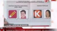 Voto fue declarado nulo, pese a ser válido según los argumentos del presidente del JEE, Luis Carrasco.
