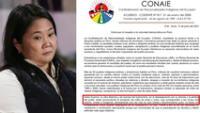 """Organización indígena de Ecuador: Keiko demuestra su cara """"racista"""" con pedido de nulidad en zonas rurales"""