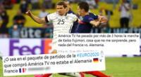 Alemania y Francia se enfrentaron por la Eurocopa 2021 y las redes estallaron.