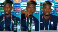 Paul Pogba bajó de la mesa la botella de Heineken.