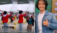 Vasco Madueño animó a los presentes y compartió videos en redes sociales. Foto: composición/Instagram
