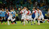 Alegría peruana tras eliminar en tanda de penales  a Uruguay en la Copa América Brasil 2019.
