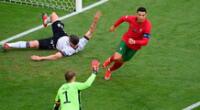 Cristiano Ronaldo convirtió su primer gol ante Alemania.