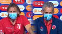 Gareca y Rueda se ven las caras en el choque técnico de ambos países.