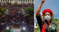 """""""Vamos a defender la democracia unidos, como en un solo puño, como pueblo"""", dijo Verónika Mendoza.."""