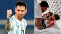 Lionel Messi no puede estar con sus hijos en el Día del Padre, pero su esposa le dedicó un mensaje especial.