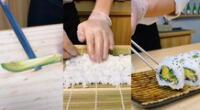 Preparación de sushi es todo un éxito en las redes sociales.