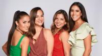 Melissa Paredes y Mayella Lloclla junto a las verdaderas hermanas Berrospi.
