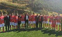 Los campeones de la Copa Sudamericana asistieron al evento