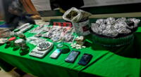 Las diversas drogas  y otras especies incautadas