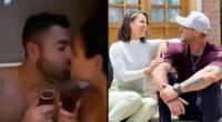 Sebastián Lizarzaburu y Andrea San Martín comparten romántico momento juntos.