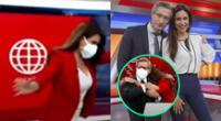 Antes de finalizar el noticiero de América TV, Verónica Linares aprovechó en darle un abrazo a Federico Salazar, quien acaba de superar el coronavirus.