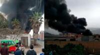 incendio de gran magnitud deja en cenizas fábrica de colchones