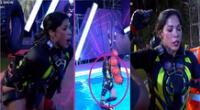 Karen Dejo cayó al agua en EEG y sufrió unas descompensación momentánea.