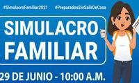 Participa este martes 29 de junio del simulacro familiar programado por Indeci