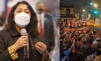 Violeta Bermúdez pidió a la ciudadanía a no acudir a las marchas ya que el país está en estado de emergencia por la COVID-19