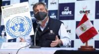 Representante de la ONU Perú condena agresión que sufrió jefe de la ONPE, Piero Corvetto.