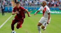 Perú y Venezuela chocan esta tarde por la clasificación a cuartos de final en la Copa América 2021.