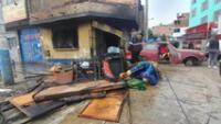 incendio en taller de planchado deja damnificada familia