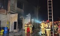 Incendio en Lurigancho -Chosica:
