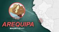 Sismo en Arequipa alertó a ciudadanos.