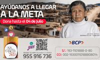 La colecta se extiende hasta el 4 de julio con el objetivo de incentivar la donación en todos los peruanos.