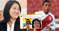 Usuarios no perdonaron la falla de Cueva y lo compararon con Keiko Fujimori